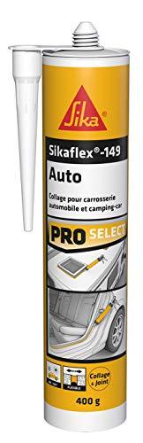 Sikaflex 149 Auto Noir (Sikaflex AM), Mastic carrosserie, Mastic-colle polyuréthane spécial collage et réparation automobile et camping-car, 300ml