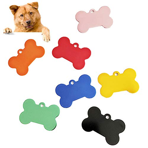 Catkoo Etiqueta grabada en forma de hueso/corazón/gato para mascota, etiquetas para gato, identificación personalizada de gato, collar de perro – dorado A