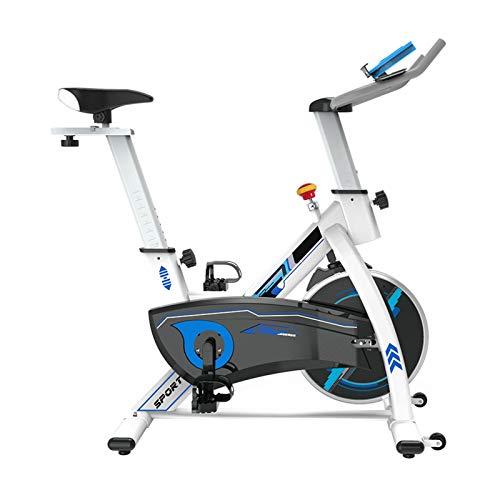 Pot Bicicleta Estática Cubierta, Hogar Control Magnético Ultra Silencioso Interior de Pérdida de Peso de la Bicicleta de Ejercicio Gym Equipment (Color : White)
