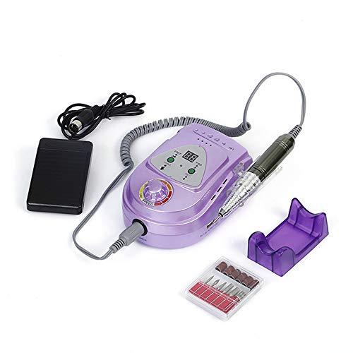 Professionele elektrische nagelverzorging, nagelverzorging, manicure, pedicure, gereedschap voor het verwijderen van acryl-gel met 6 boren, violet