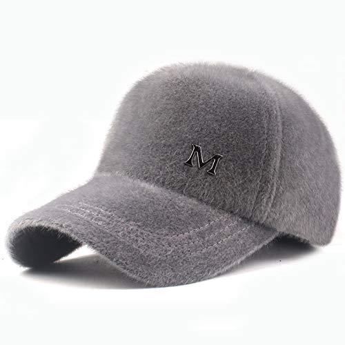 Xme Sombrero de Felpa cálido de otoño e Invierno, Gorra Blanca de Mujer, Gorra de béisbol cálida al Aire Libre