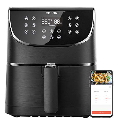 COSORI Smart WiFi Air Fryer 5.8QT(100 Recipes), Digital Touchscreen with 11 Cooking Presets for Air Frying, Roasting & Keep Warm ,Preheat & Shake Remind, Works with Alexa & Google Assistant,1700W