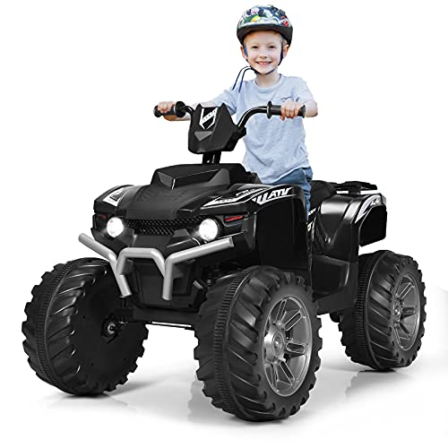 GYMAX Kids Electric Quad Bike, ATV Ride On Car with Bluetooth, Lights,...
