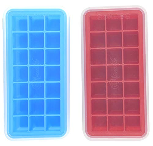 Mirenlife Ice Cube Trays Silicone with Lids