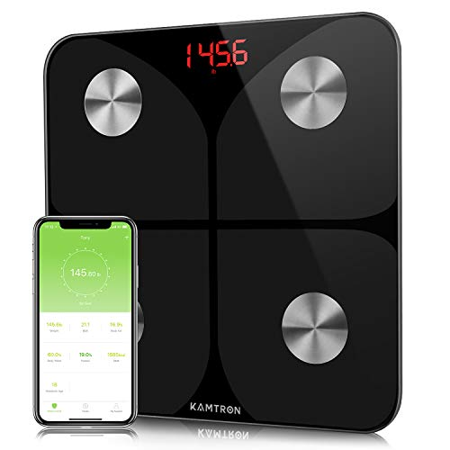 KAMTRON Smart Body Fat Scales - Bathroom Scales Body Composition Analyzer...