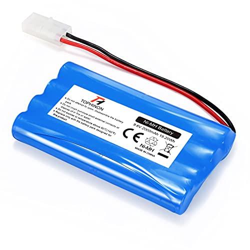 HT TopHinon 2000mAh 9.6V NiMH RC Paquete de Carreras de Baterías para Modelos de Coches, Aviones, Robots (Juguetes), Batería de Alto Rendimiento RC + Posavasos como Regalo