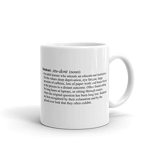 Keramiktasse mit Student Definition, weiß, 325 ml