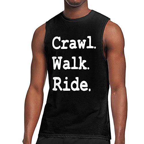 TYUHN Camisa sin Mangas sin Mangas para Hombre, de Paseo y Anudado, sin Mangas, para el Gimnasio Deportivo de Verano