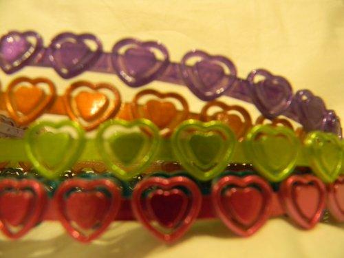 Scunci Girl 5 PCS Heart Rainbow Headbands by Scunci