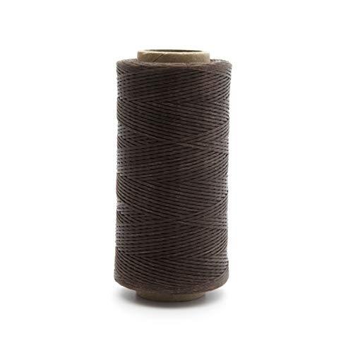 Surepromise Gewachstes LEDERGARN WACHSBAND Leder gewachst Wachs Thread Cord Ledergarn Nähen Handwerk Ø 0,8 mm 260m (Kaffee)