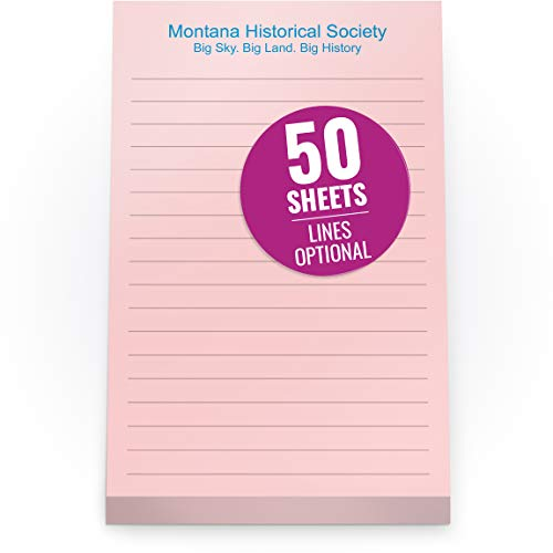 Custom Printed Pink Sticky Notes 4 x 6 inches - Adhesive Memo Pads Personalized with Your Company Name, Ruled Lines or No Lines - 50 Self-Stick Sheets per Printed Pad - 4 Qty