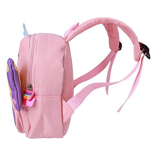 Asixxsix Mochila para bocadillos, Duradera y Duradera Garantía de Calidad Bolso Preescolar de Dibujos Animados Moderno y Encantador, para niñas en Edad Preescolar Viajes(Pink)