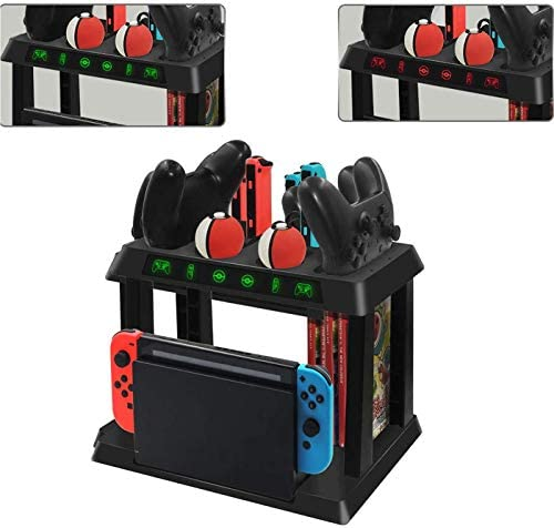 EEkiiqi All in One Switch Charging Stand Game Disc Storage Controller Charging Dock for Switch product image