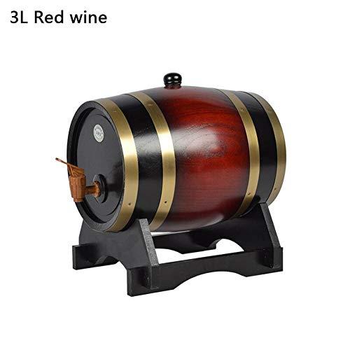 1.5L / 3L Oak Wine Barrel Vintage Wood Timber Wine Barrel Dispensador Cerveza Whisky Ron Puerto Barriles de Vino Cubo de Almacenamiento de Vino con Base e imitación de Madera Faucet