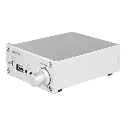 Docooler NK-268 Amplificateur de Puissance Audio Numérique Bluetooth 4.0 Mini Récepteur HiFi Audio Stéréo Amp Canal Double 50W + 50W avec Adaptateur de Puissance