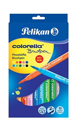 Pelikan 814577 Faserschreiber Colorella Super Brush, 10 Stifte in Faltschachtel
