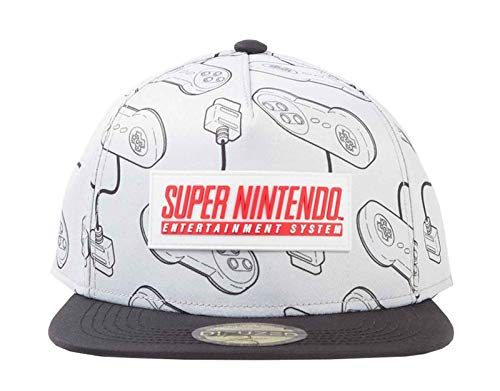 Nintendo - SNES Snapback Cap White