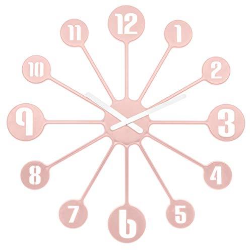 Koziol Pinball Wanduhr, Uhr, Quarzuhrwerk, Dekoration, Deko, Kunststoff, Powder Pink, 45 cm, 2341638