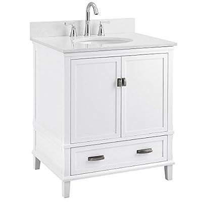 """Dorel Living Otum 30"""" Bathroom Vanity, White"""