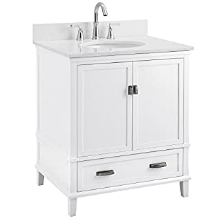 "Dorel Living Otum 30"" Bathroom Vanity, White (B07CSFSQS7) 