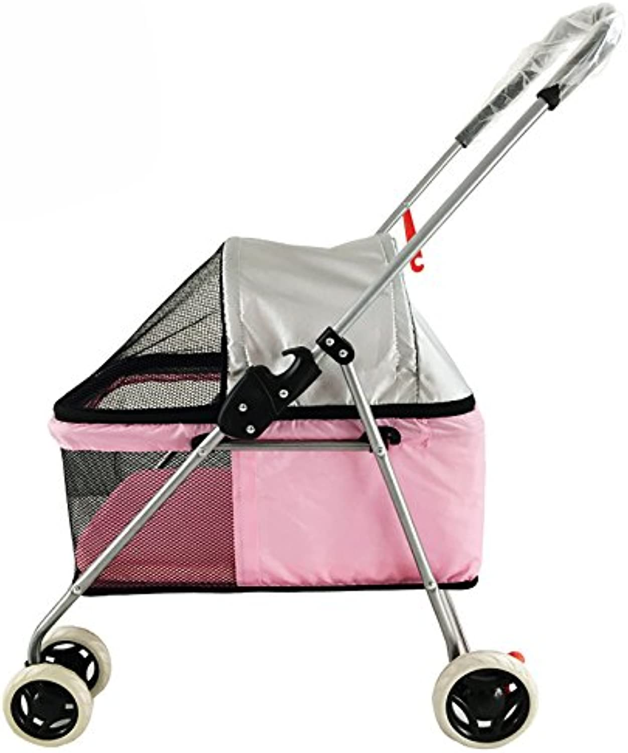 Pet trolley NAUY Lightweight Cat and dog cart Push dog can folded