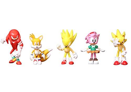 Sonic Toys 5pcs/lot figuras sónicas juguete de PVC Sonic Shadow Tails Personajes Figura de acción de ratón juguetes para niños regalo de cumpleaños