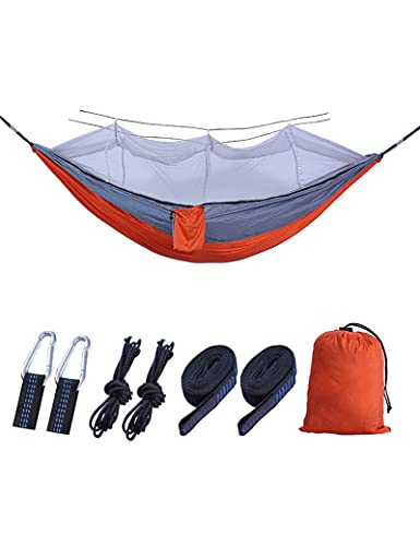 XHLLX Camping Hammock Portable Lightweight Parachute Nylon Double Hammock for Travel Backpacking Camping Hunting Beach