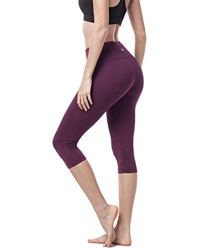 LAPASA Legging avec Poches Capri/Pantacourt de Sport Femme Coupe Genoux Amincissant - Yoga Fitness...