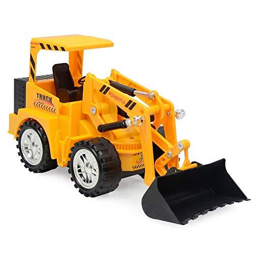ASMART 5-Kanal-Fernbedienung Cast-Skala Frontlader BAU LKW Bulldozer mit Lichtern, der Arm geschwungen Werden und Charged, Beste Kinderspielzeug Spielzeug für draußen