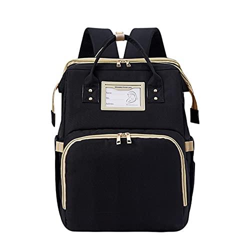 Bolsa de viaje multiusos para cuna de bebé, portátil, bolsa de pañales plegable, puerto de carga USB integrado, cómodo, duradero y resistente al agua