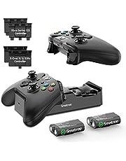 Smatree stacja ładująca serii Xbox, podwójna stacja ładująca Xbox One z akumulatorem do Xbox Series X/Xbox Serie S/Xbox One/Xbox One S/Xbox One X/Xbox One Elite bezprzewodowy kontroler