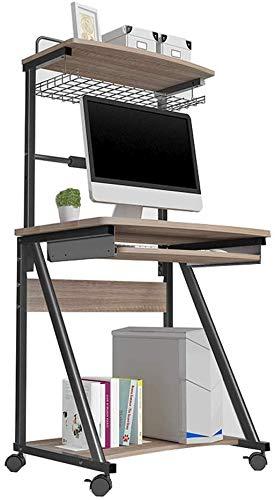 AYHa Faltbare Computer-Schreibtisch für Computer-Schreibtisch Adjustable Computer-Schreibtisch für Computer-Schreibtisch-faltbarer Laptop-Computer-Tisch, Einstellbare Höhe von 76,5 bis 90 cm,Grau