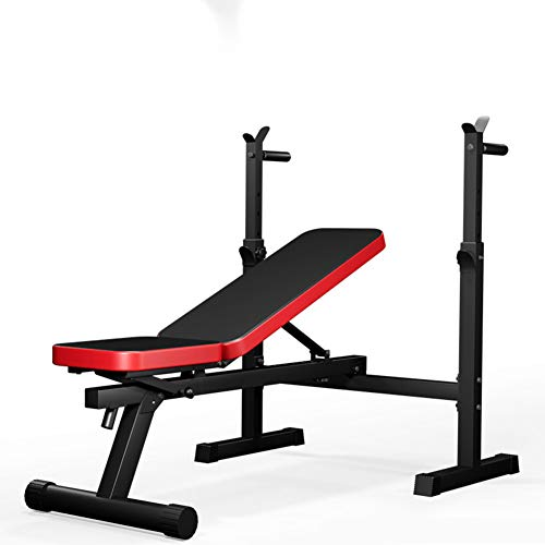 HOMRanger Portable Simple Weight Bench,Strong Bearing Bench Press,Durable Indoor Workout Bench,sit-up Board with Soft High Elasticity Pad A