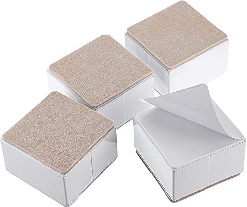 HGERFXC Alzate per mobili Resistenti 5,2 cm Alzaletto in Acciaio al Carbonio Rialzi per mobili autoadesivi per Letti Divani Armadi Sedia da scrivania, Bianco