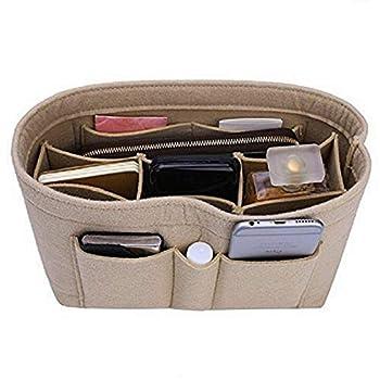 Purse Organizer Insert Felt Bag Organizer For Handbag Purse Organizer  Small Beige