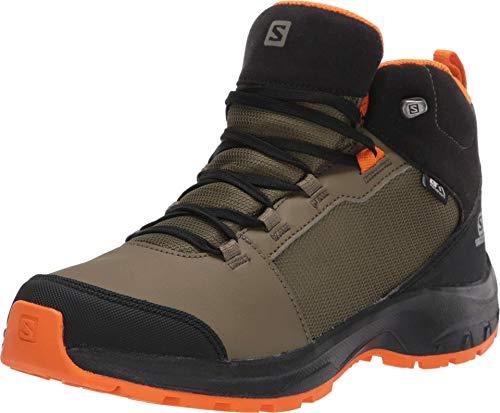 SALOMON Shoes Outward CSWP, Botas de Hiking, Verde (Burnt Olive/Black/Exuberance), 33 EU
