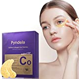Collagen Under Eye Patches, Pyndela 24K Gold Anti-Aging Moisturizing Under Eye Mask with Hyaluronic Acid, Reducing Dark Circles - Wrinkles - Puffiness - Eye Bag Treatment Gel Pads Mask 15 Pairs