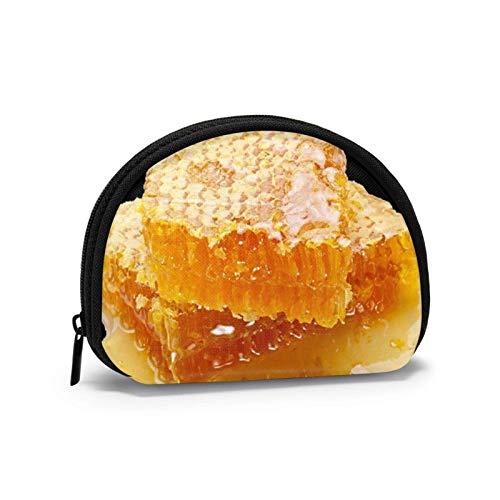 Mini bolsa de almacenamiento, bolso de concha, bolsillo pequeño portátil, gafas de dibujos animados, abejas de dos piezas, bolsa de joyería, bolsa de cosméticos