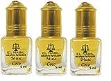 Set de 3 Almizcle Musc COCO El Nabil 5ML Perfumes de Mujer Perfumes Hombre Attar Perfume Sin Alcohol 100% de Aceite Almizcle Oud Roll on NOTAS: Noix de Coco, Notas Fruitées, Jazmín, Vainilla, Musc