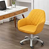GGHHJ Acento Modern Design Office Desk Schaut Silla Mediana Atrás Silla de Oficina Silla giratoria Ajustable 42-52CM Presidente de la Tarea ejecutiva (Color : Amarillo)