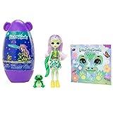 Enchantimals- Huevo Decorativo con Andie Alligator Muñeca & Tierfreund Marshy (Mattel GPL98)...