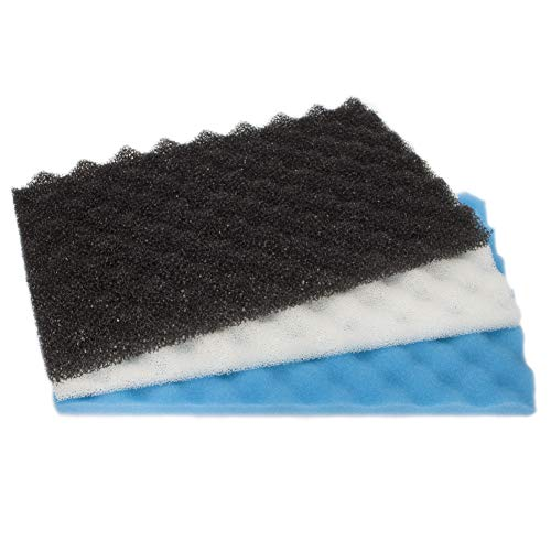 LTWHOME Fish Pond Foam Filter Sponge Set 17' X 11' 3 Grade Media (Pack of 1 Set)