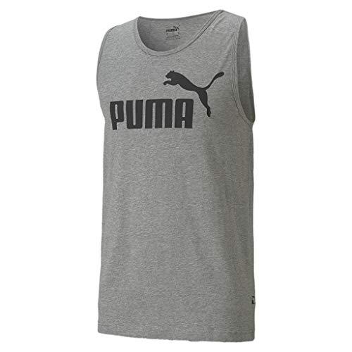 PUMA Herren ESS Essential Logo Tank SL Tee/T-Shirt Tanktop, Größe:XXXXL, Farbe:Grau (Medium Gray Heather)
