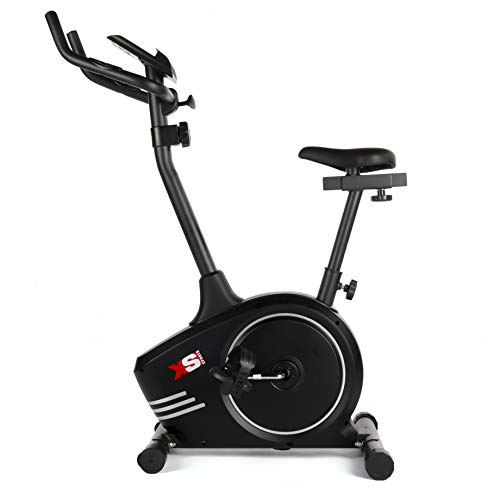 XS Sports B510 Magnetic Exercise Bike - Indoor Fitness Equipment - Stationary Upright Gym Cycle Trainer for Home Workout and Cardio (Black)