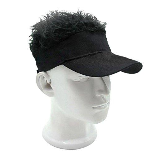 Deinbe Hombres Divertidos Visera Gorra de Punto con la Peluca decoración Sombrero de Sol