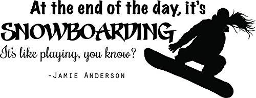 DS Inspirational Decals Snowboarden Vinyl Aufkleber–Jamie Anderson Aufkleber/Decor–50,8x 25,4cm Schwarz