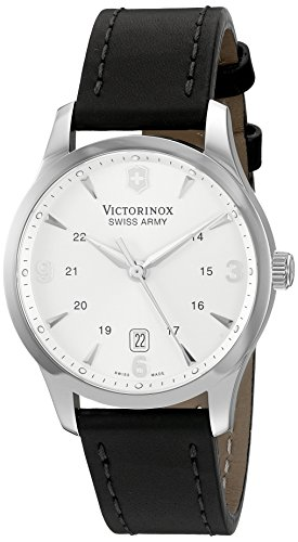 Victorinox Unisex 249034 Alliance Analog Display Swiss Quartz Black Watch