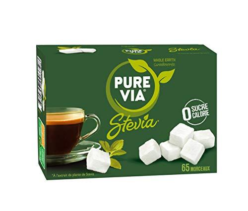 PURE VIA - Boîte 65 morceaux de Sucre - Stevia - Zéro Calorie