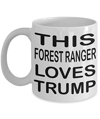 N\A Lustiger Waldläufer Kaffeetasse Dieser Waldläufer liebt Trump Waldläufer Geschenkgeschenke für Waldläufer Männer Frauen