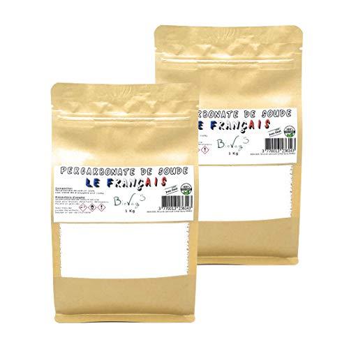 BioVeg5 | Percarbonate de Soude 2kg | Oxygène Actif <12% | Détachant & Blanchissant | Le Français | Sachet Kraft Zip Refermable